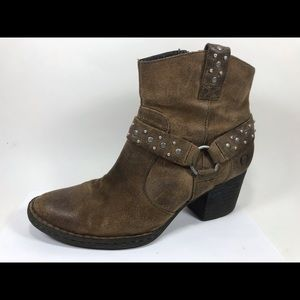 Børn Leather Zip Ankle Boots 7M Heeled